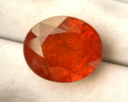 7.72 Carat Oval Cut Bright Fanta Orange Spessartite Garnet