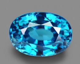 11.43 Cts Wonderful Attractive Top Blue Natural  Zircon