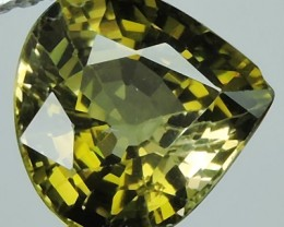 1.55 CTS DAZZLING NATURAL GREEN TOURMALINE PEAR MOZAMBIQUE