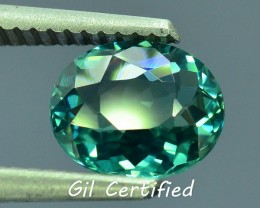 GiL Certified 1.29 ct Natural Indicolite Tourmaline PR.I
