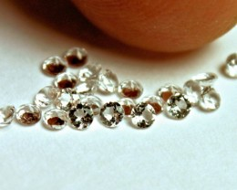 0.86 Tcw. White Brazil Topaz Accents - 2mm - 20pcs.