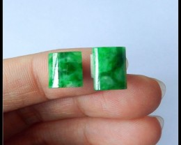 Sell 2pcs Fashion Natural Jadeite Cabochon  beads 3ct(A316)