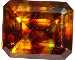 CERTIFIED  6.95 CTS FACETED FIREY  SPHALERITE  POLISHED-SPAIN [STS 563]