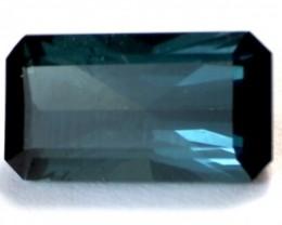 4.34ct Emeral Cut Indicolite (Blue) Tourmaline VVS RA006