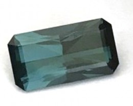 4.34ct Emeral Cut Blue (indicolite) Tourmaline VVS RA006 G193