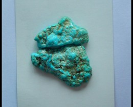 2pcs Natural Nugget Turquoise  Cabochon35x23x8mm,30x16x7mm,49.5ct(A341