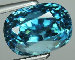 6.45 CTS WONDERFULL OVAL CUT BLUE ZIRCON