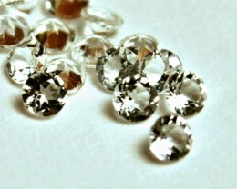 0.86 Tcw. White Brazil VVS Topaz Accents - 2mm - 20pcs.