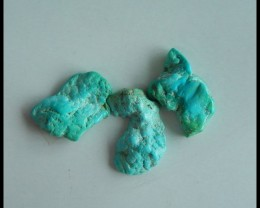 Sell 3 PCS AAA Nugget Turquoise Cabochons 27x16x7mm,25x17x7mm,59ct(s029)