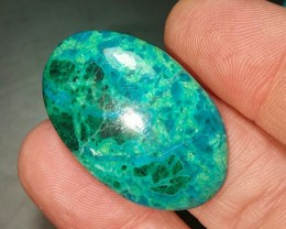 Chrysocolla with Malachite dioptase azurite 32mm 29ct