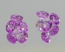 2.166tcw Pink Sapphire Rounds 6 stone Parcel