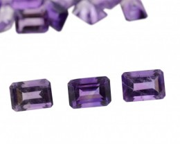 AMETHYST 330 cts 360st 7x5mm Emerald Cut