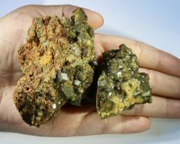 Green Grossular Garnet Cluster Specimen  PPP 1155
