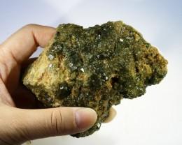 Green Grossular Garnet Cluster Specimen  PPP 1160