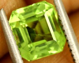 1.5 carats PERIDOT faceted stone from Burma ANGC-674