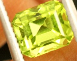 1.4 carats PERIDOT faceted stone from Burma ANGC-675