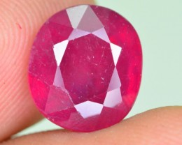 5.95 CT NATURAL BLOOD RED AFRICAN RUBY GEMSTONE