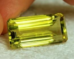 30.0 Carat Vibrant VVS Yellow African Lemon Quartz