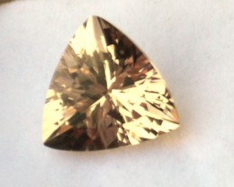 6.40 Carat Trillion Cut Fine Morganite