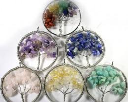 Six Tree of Life Gemstones jewelry  JGG 186