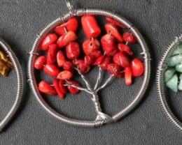 Three Tree of Life Gemstones jewelry  JGG 198