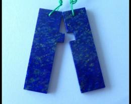 New Design!!Natural Lapis Lazuli Earrings,41x12x3mm,41.5ct(2017031310)