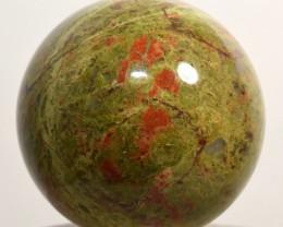 "2.3"" Unakite Sphere Orthoclase Epidote Crystal Ball India (STUNB-NA20)"