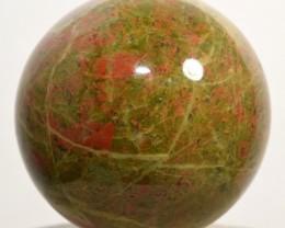 "2.3"" Unakite Sphere Feldspar w/ Epidote Crystal Ball India (STUNBNA22)"