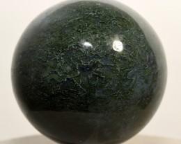 49mm Green / Blue Moss Agate Sphere Polished Crystal India STGMAB-NA69