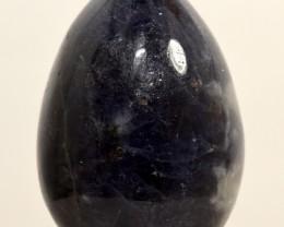 "2"" Blue Iolite Egg Sparkling Crystal Mineral Stone India (STILE-NA104)"