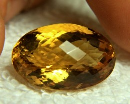 24.75 Carat Brazil Cushion Cut VVS Citrine - Gorgeous