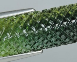 6.60 CTS SPARKLING NATURAL GREEN FANCY TOURMALINE MOZAMBIQUE GEM NR!