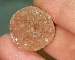 peach druzy agate round 22mm 20ct cabochon