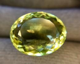 16.0 Carat Natural Lemon Quartz Trillion Faceted Gemstone