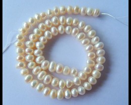 Natural Pearl Necklace Beads,7x5mm,37.5cm in the length,111.5ct(17031602)