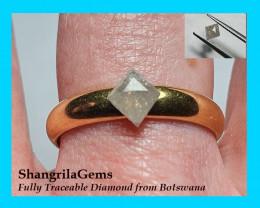 0.52ct 6.93mm Rosecut Kite shape diamond White known as Ice diamonds 6.93 b