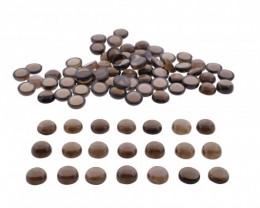 Smoky Quartz 405 cts 80 stones 11mm Round Cabochon
