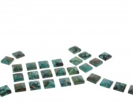 Turquoise 250 cts 19 stones 15mm Square Cabochon/Tablet