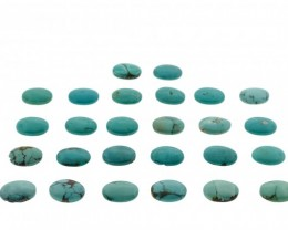 Turquoise 279 cts 26 stones 19x14mm Oval Cabochon