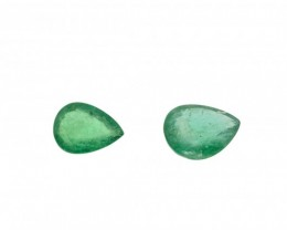 Emerald Parcel/Lot 2.15 cts 2 stones 8x6mm Oval