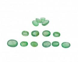 Emerald Parcel/Lot 15 cts 14 stones