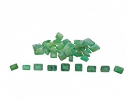 Emerald Parcel/Lot 42.4 cts 39 stones