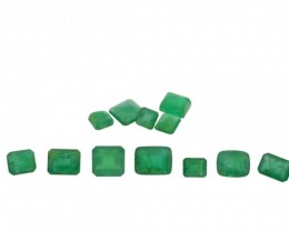 Emerald Parcel/Lot 25.8 cts 12 stones