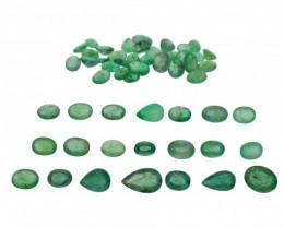 Emerald Parcel/Lot 59.6 cts 53 stones