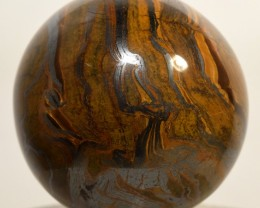 "2.2"" Tiger Iron Sphere Striped Chatoyant Crystal - Africa (STTIB-NA15)"