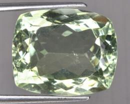 16.32 Cts Natural Green Amethyst/Prasiolite Cushion Cut Brazil Gem