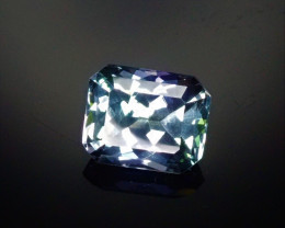 2.21ct Tanzanite Bi-Color Emerald Cut