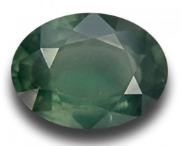 3.30 CTS |Natural Green Sapphire | Loose Gemstone| Cretified| Sri Lanka - N