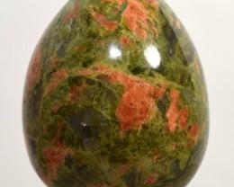 49mm Unakite Egg Feldspar w/ Epidote Crystal Stone - India (STUNBNA23)