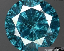 0.01 ct diamond Green Blue I